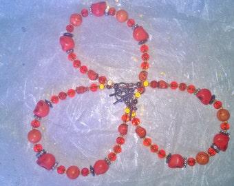 Skull Bracelet - Orange