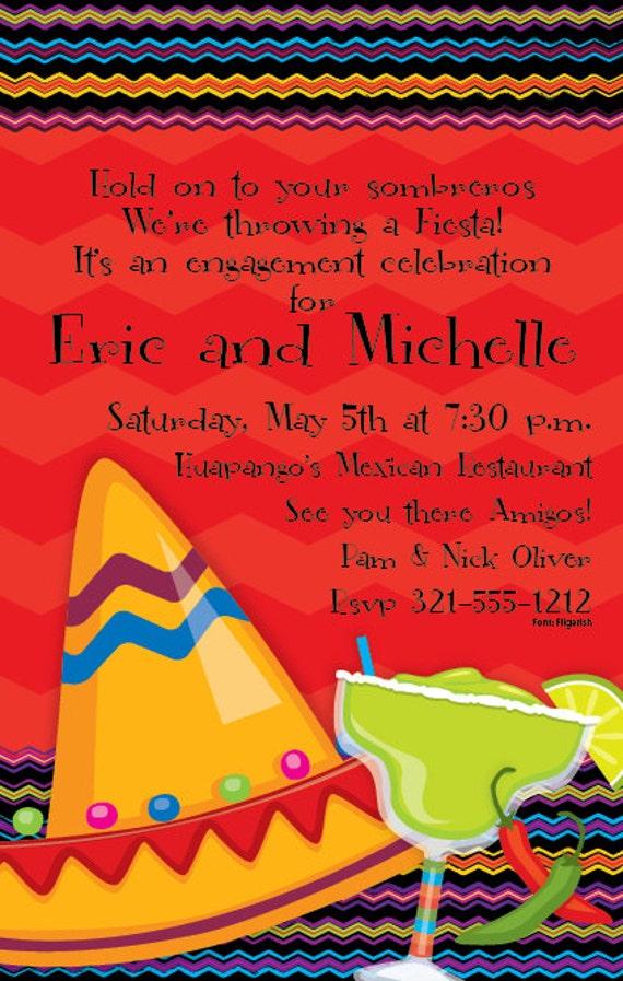 fiesta fun mexican party invitation fiesta invitation ole