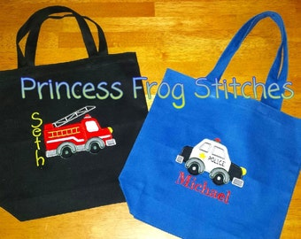 Tote bag with applique and or name