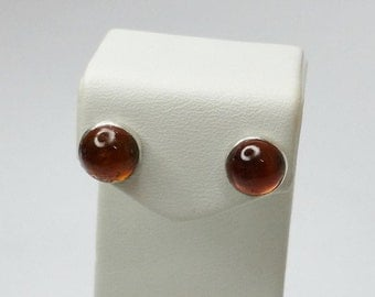 Antique 925 Silver earrings with amber SO305