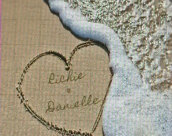 Heart in Sand Personalized Picture
