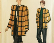 "VTG 9478 Vogue (1985) ""Very Easy, Very Vogue"" suit w/jacket, pants, skirt & car coat. Size 14-16-18. Complete, unused, FF. Excellent cond."