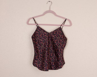 Vintage floral camisole tank top small