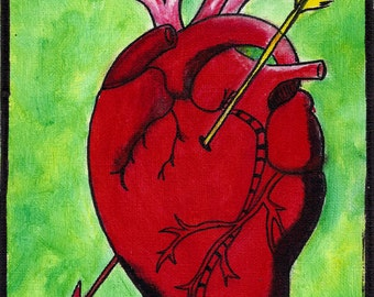 El Corazon Hand Painted