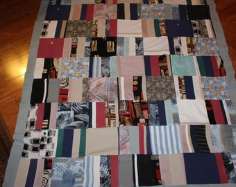 Memory Quilt of Dad's Shirts, T shirt quilt, Patriotic quilt, quilt for dad,Memory blanket,Remembrance quilt,Sympathy blanket,Throw size