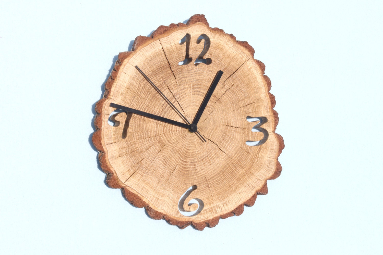 oak clock unique wall clocks wall clock wood big clock. Black Bedroom Furniture Sets. Home Design Ideas
