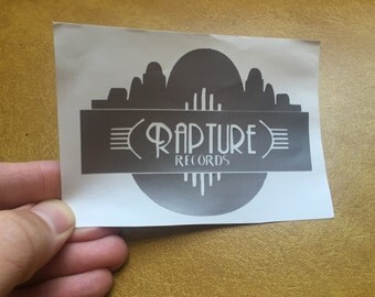 Bioshock video game Rapture Records vinyl sticker decal