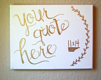 Custom Quote Canvas, Custom Sign, Personalized Canvas, Personalized Wall Art, Canvas Wall Art, Lettered Canvas Wall Hanging, Custom Gift