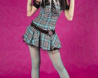 Halloween dress Frankie Stein Monster High cosplay costume