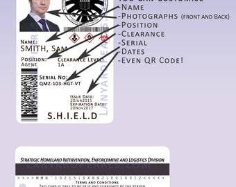 S.H.I.E.L.D Novelty Cosplay ID Badge Card