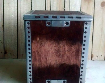 Industrial Shipping Crate Storage Box - Upcycled - Reclaimed
