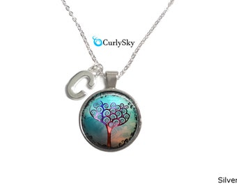 Whimsical Necklace Blue Whimsy Necklace Blue Whimsy Tree Pendant Whimsical Necklace Blue Tree Necklace Blue Whimsy Pendant Whimsical Jewelry