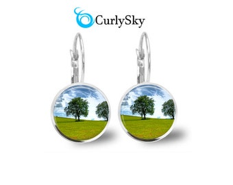 Grassland Earrings Green Field Earrings Green Tree Earrings Green Grassland Earrings Green Tree Dangles Green Grassland Dangles Earrings
