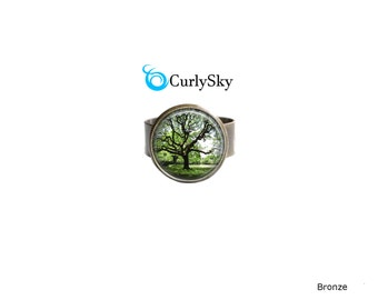 Olive Green Ring Olive Tree Ring Olive Forest Ring Green Forest Ring Forest Tree Ring Forest Jewelry Olive Green Ring Green Statement Ring
