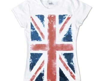 Union Jack ladies shirt girlie Great Britain United Kingdom UK England London
