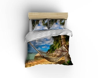 Lazy Afternoon duvet covers, home decor, bedding, comforter covers, bedroom decor,graphic print bedding, hammock comforter cover.