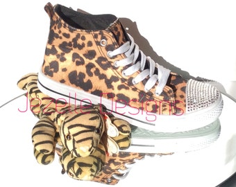 Bedazzled Shoes - On Sale - LAST PAIR! Swarovski Crystal Kicks - Blinged Out Hi Tops - Charles Albert Casual Shoes - Custom Hand Jeweled