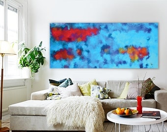 Abstract Art Print, Fine Art Print, Giclee Print, Wall Art, Home Decor Poster Psychedelic Abstract Painting Large Giclée Print (26 X 40 in)