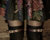 Leather Stocking/Thigh-High Straps with Brass or Nickel Buckles