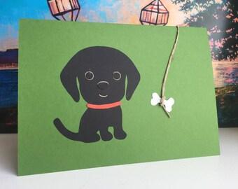 Black Labrador Retriever Card