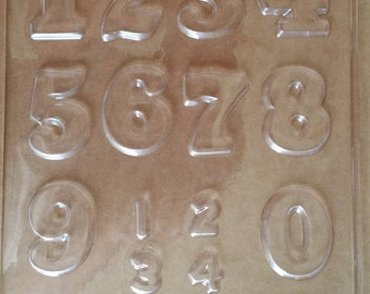 Numbers 0-9 Chocolate Candy Mold