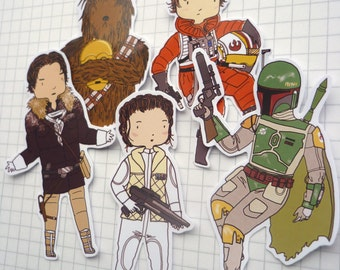 Empire Strikes Back ∙ Star Wars sticker set ∙ Character stickers
