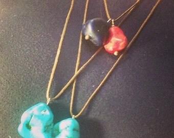 Faux rock necklaces