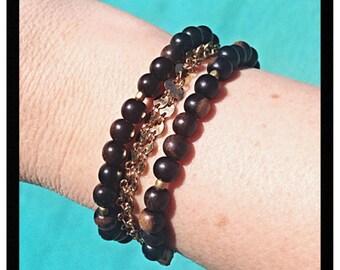 Tiger Ebony Wood Bracelet