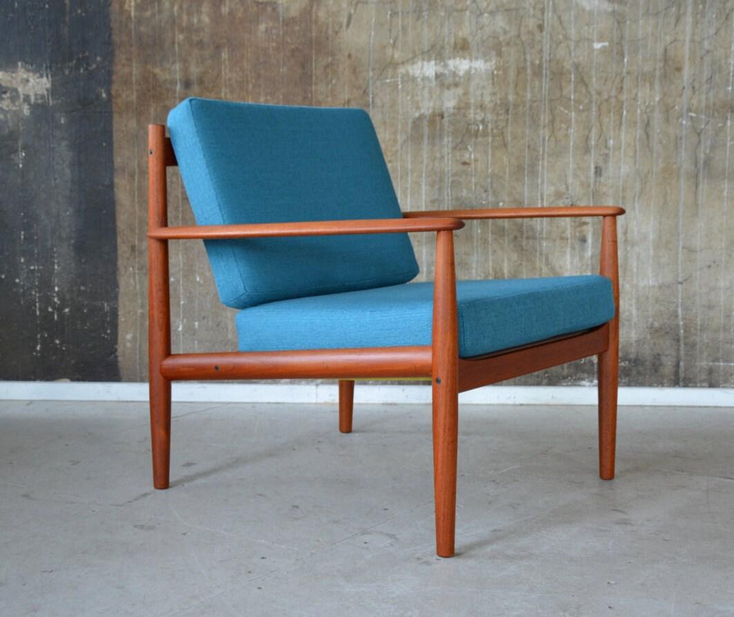 60er grete jalk teak sessel france son 60s easy chair. Black Bedroom Furniture Sets. Home Design Ideas