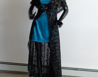 Long black lace jacket, original design, custom fit, made to order