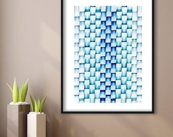 Abstract Modern Art Instant Download Wall Art Digital Download Printable Blue Art Home Office Decor Modern Pattern Wall Art Geometric Poster