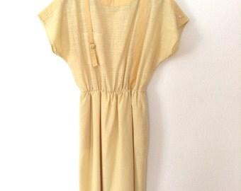 SALE Vintage Dress in Cream Color