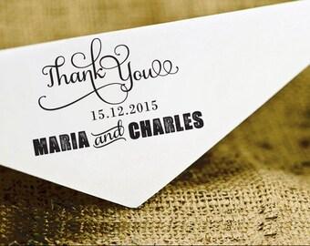 Wedding Thank You Stamp, Wedding Favor Stamp, Custom Stamp, Self Inking Thank You Wedding Stamp, Personalized Stamper HS91P