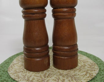 Vintage Wooden Salt & Pepper Shakers