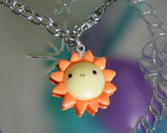 Cute Kawaii Sun Polymer Clay Charm