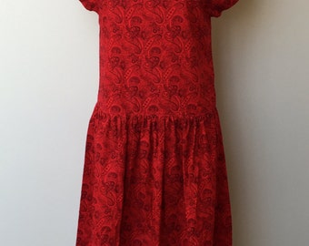 1970's VINTAGE CASUAL DRESS-Bold Bandanna Dress