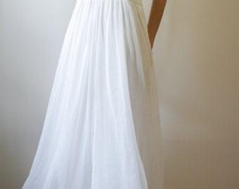 Boho Hippie Wedding Ethereal Creamy Dress