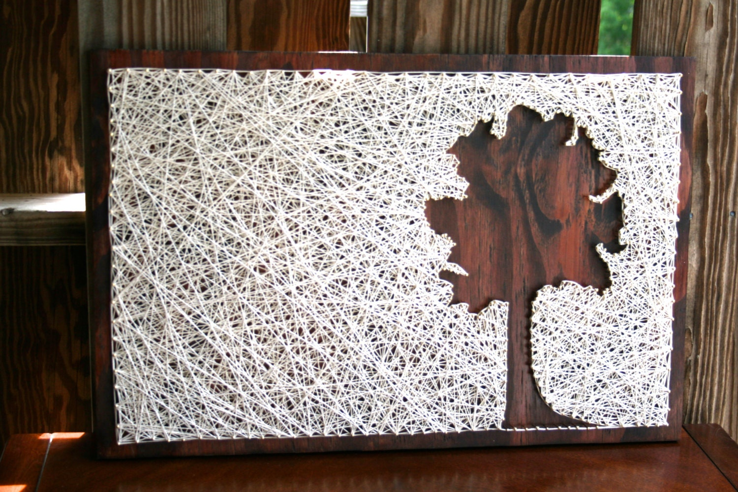 tree string art reverse tree string art. Black Bedroom Furniture Sets. Home Design Ideas