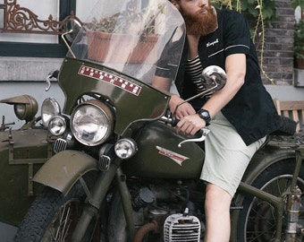"Vintage Mechanic Shirt ""Royal"""