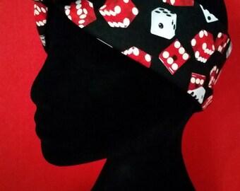 Dice - Pin Up Rockabilly Wire Headband Bandana
