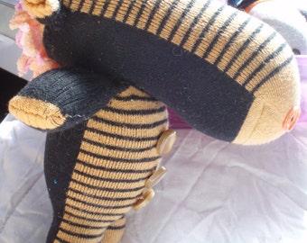 Zebra sock animal
