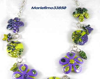 flowery brightly colored necklace
