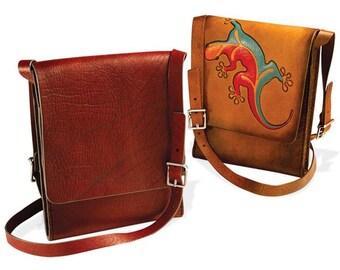 Vertical Messenger Bag