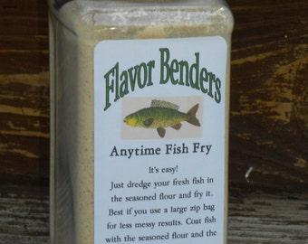 Anytime Fish Fry - Fish Breading - Fish Flour - Fish Batter  - Fried Fish Seasoning Mix 16 Oz.