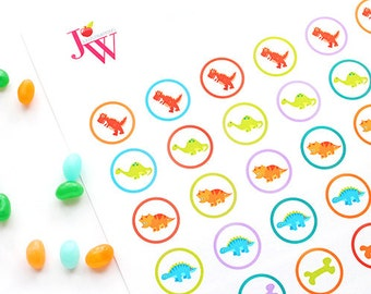 Dinosaur Rawr Printable 1 Inch Circles, Bottle Cap Circles, Printable Dinosaur Circles, Printable Candy Circles, Dinosaur Party Printable