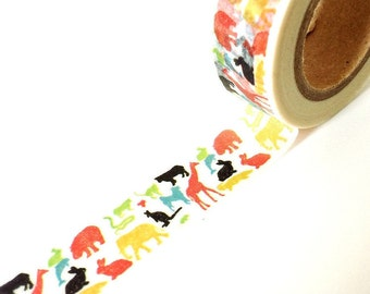 Fun and colorful zoo washi tape