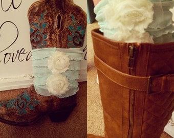 Ruffle/Flower Boot cuffs