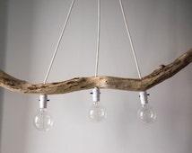 Popular items for lampe suspendue on etsy for Luminaire suspendu bois flotte