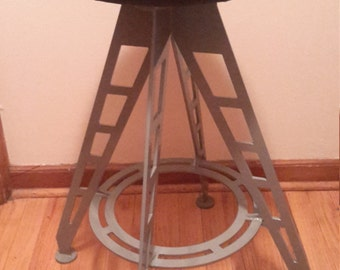Industrial Steel Bar Stool