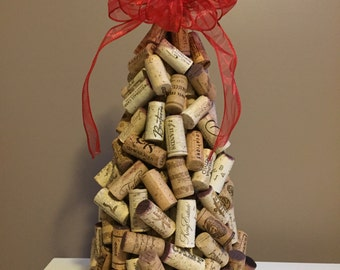 Recycled Wine Cork Christmas Tree